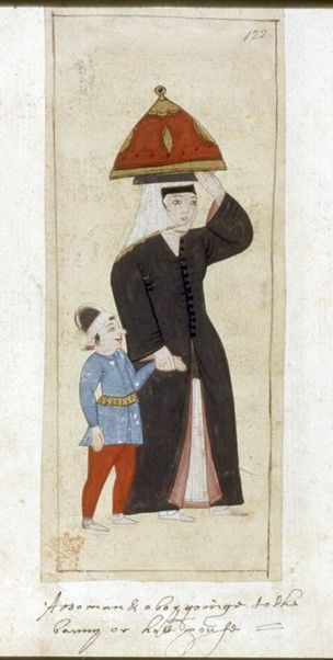 Bound album with 122 paintings of sultans, court officials and others, on paper.