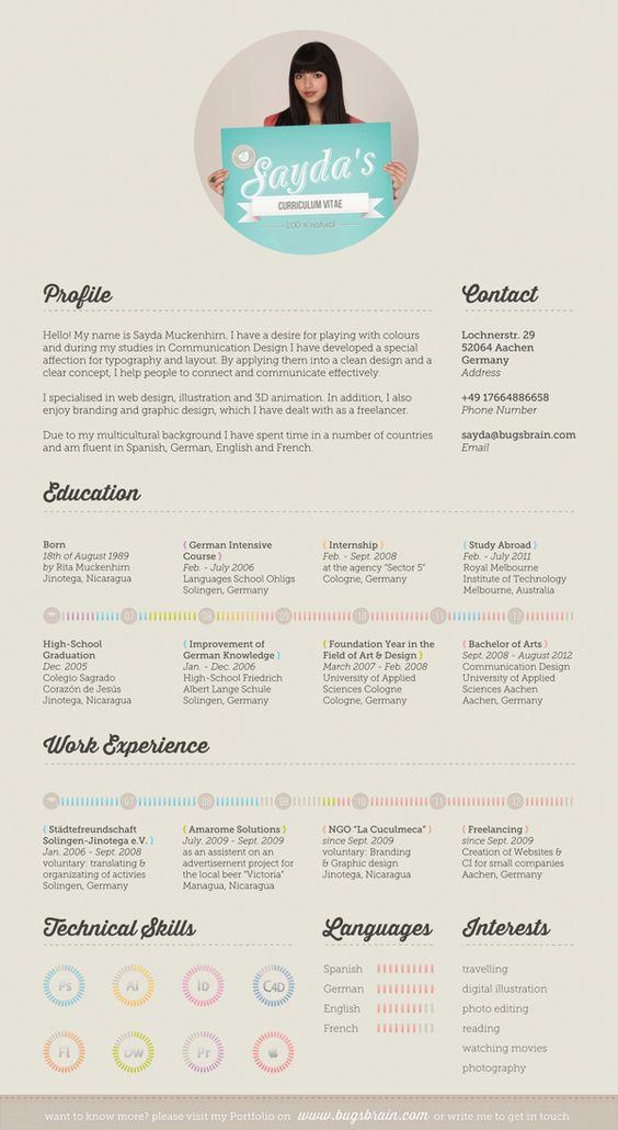 My Resume by Sayda Muckenhirn, via Behance simple yet beautiful cv