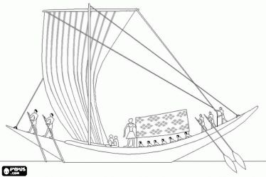 nile boats coloring pages - photo#5