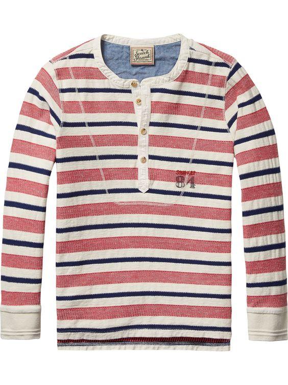 Striped Grandad T-Shirt