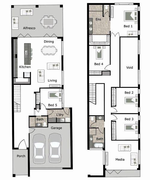 10m Frontage 2 Storey Home Designs Brisbane Fresh 2 Storey House Design For Small Lot Best Car 2 Narrow Lot House Plans Narrow House Designs Narrow House Plans