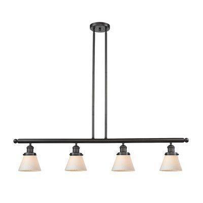 Innovations Lighting Glass Cone 4 Light Kitchen Island Pendant