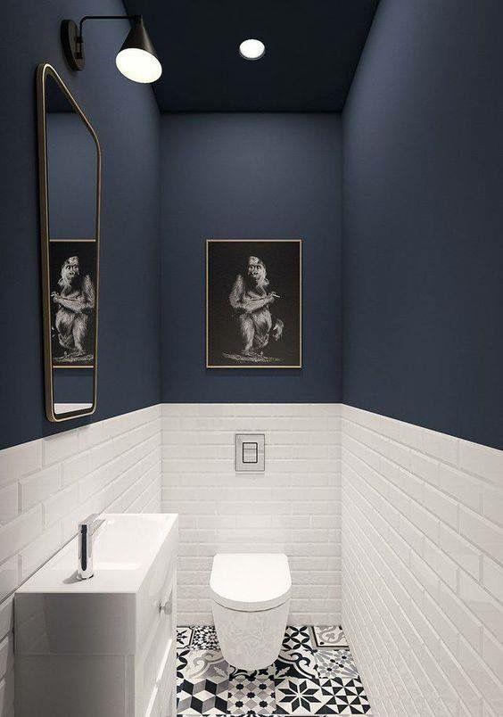 Add Drama With Dark Colours To A Small Bathroom White Bathroom Designs Small Bathroom Remodel House Bathroom