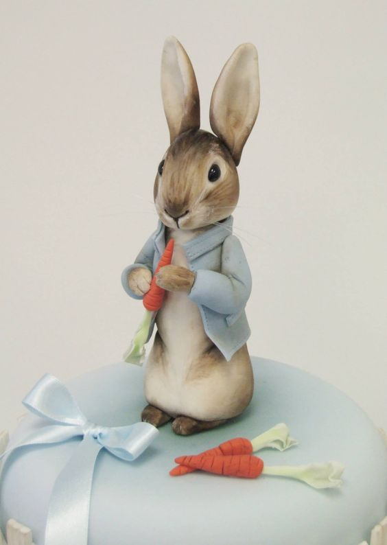 Peter Rabbit Cake Figures