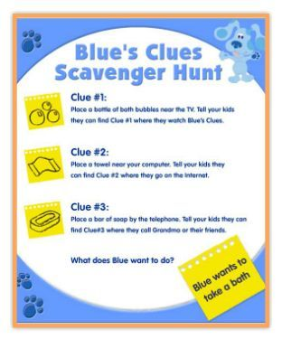 Kids can solve Blue's Clues in this scavenger hunt!: