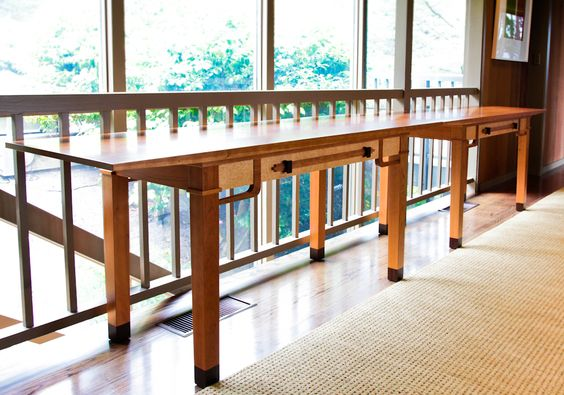Greene & Greene Console Table by Berkeley Mills Furniture