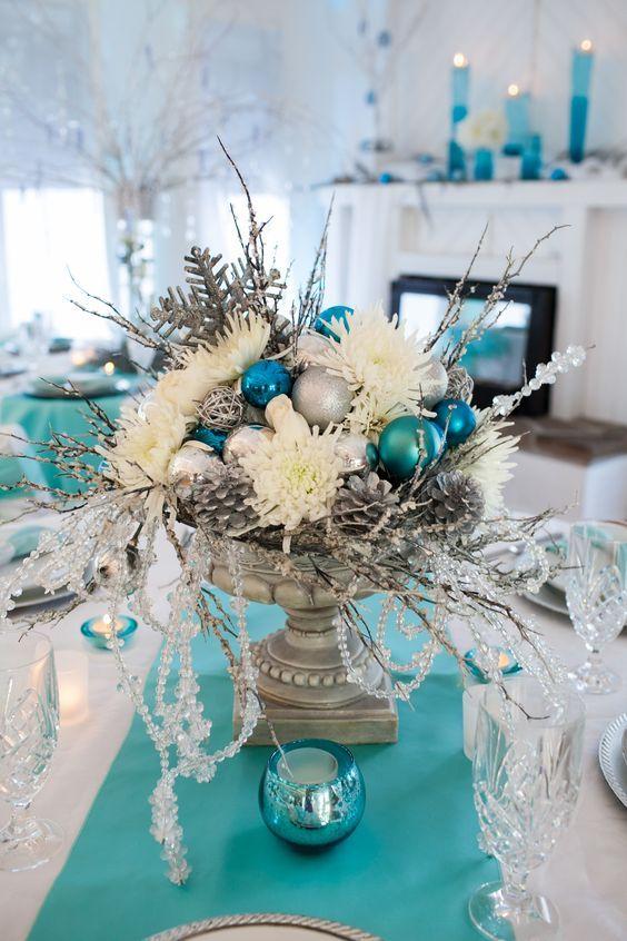 20 Amazing Christmas Centerpiece Ideas Winter Wonderland Wedding Centerpieces Winter Wonderland Centerpieces Christmas Centerpieces