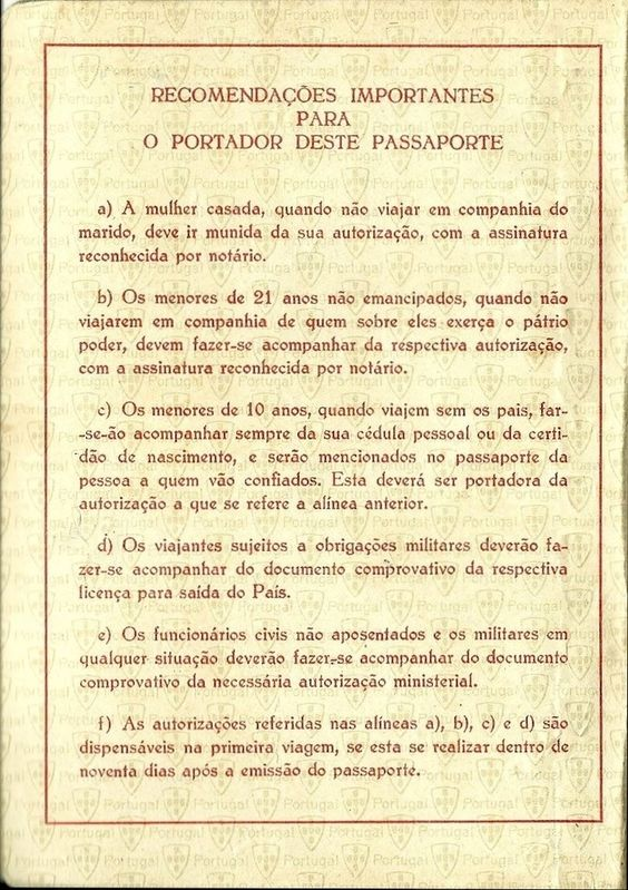 Português passport (Women's rights detail) - 1956 // Collection Remains: