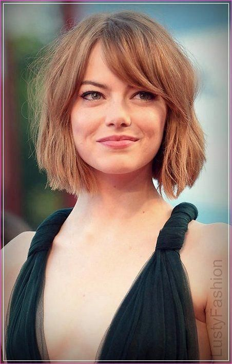 Pin By Anniversary Wishes On Haare In 2020 Side Bangs Hairstyles Thick Hair Styles Short Bob Hairstyles