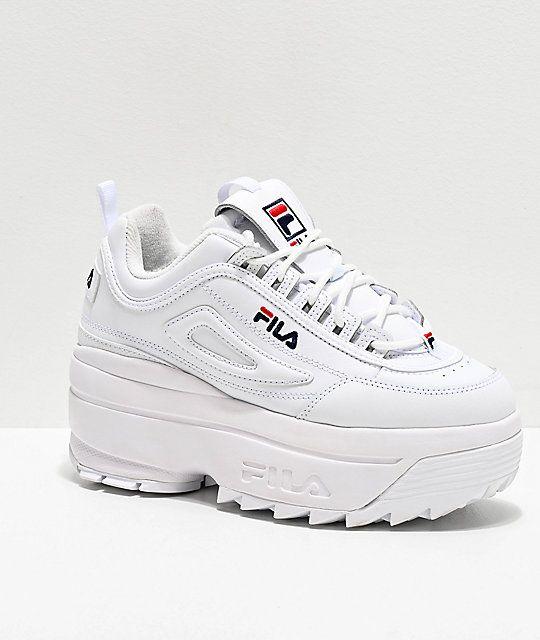 Fila Disruptor II White Super Platform Shoes | Platform