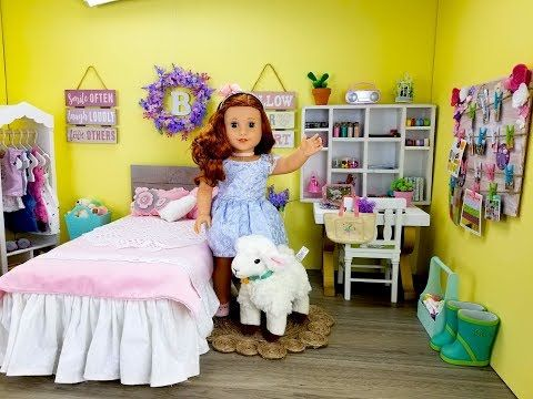 American Girl Doll Bedroom for Blaire Wilson - YouTube ...