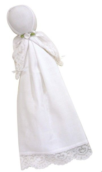 Inspirational Dolls have been quietly entertaining little ones in church for many years. Fashioned from a handmade cotton handkercheif, the dolls can later be carried down the aisle in the bride's bouquet.