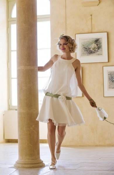robe de mariée courte  clara