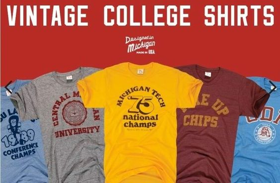 College T Shirts Vintage 43