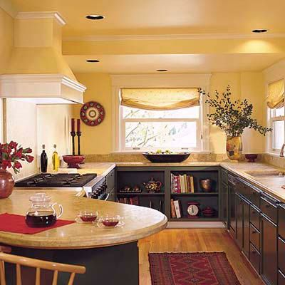 Bookshelves in the kitchen. Photo: William Wright | thisoldhouse.com | from Editors' Picks: Our Favorite Yellow Kitchens