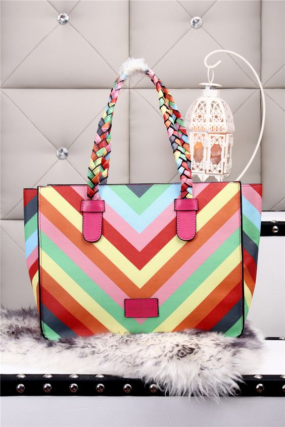New brand valentine  2015 100% leather women handbag shoulder bag + woven hand grip + iridescence patchwork totess bb152-in Shoulder Bags from Luggage & Bags on Aliexpress.com   Alibaba Group