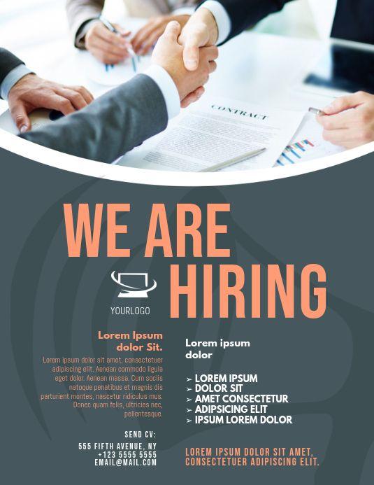 Job Hiring Flyer Hiring Poster Job Poster Graphic Design Flyer
