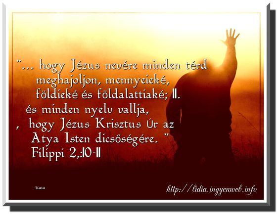 hogy jezus nevere minden terd meghajoljon