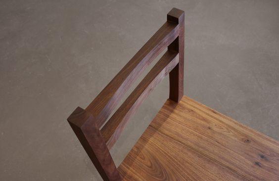 Beran Table U0026 Index Chair U2014 Shigouri U2014 Woodworking U0026 Custom Furniture U2014  Denver, Colorado Walnut Dining Chair Handmade   Handmade   Pinterest    Custom ...