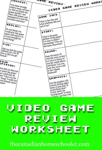 Help with Game Reviews?