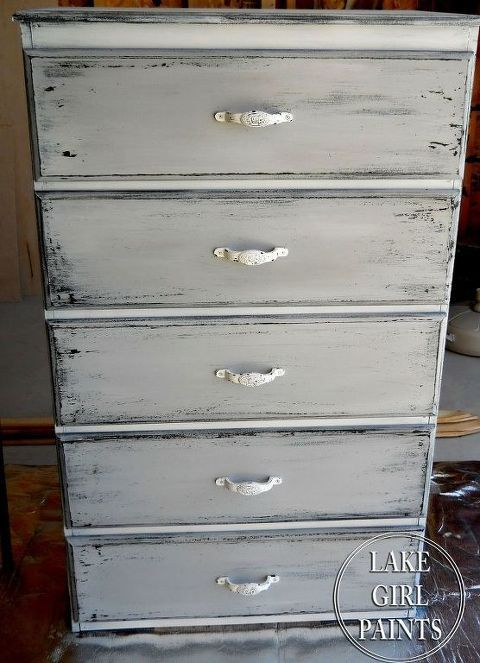 Get The Gray And White Chippy Look On Your Old Furniture