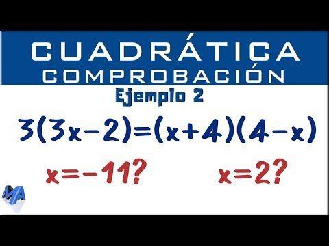 Ecuación Cuadrática Segundo Grado Youtube Ecuaciones Cuadraticas Matematicas Faciles Ecuaciones