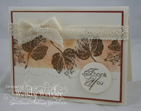 Stampin' Up! Card  by Wendy Weixler at Wickedly Wonderful Creations