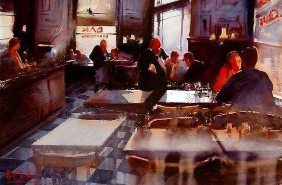 Alvaro Castagnet, 1954 ~ Impressionist Watercolor painter   Tutt'Art@   Pittura * Scultura * Poesia * Musica  