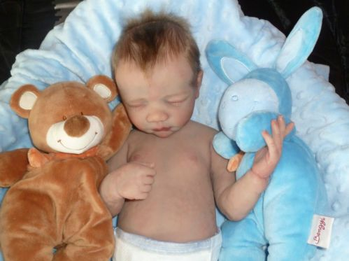 Full Body Solid Silicone Platinum Baby BOY # 3 of 7 Worldwide Reborn Doll