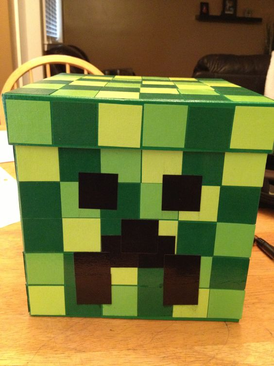 image regarding Minecraft Valentine Box Printable called minecraft valentine box. minecraft creeper prospective