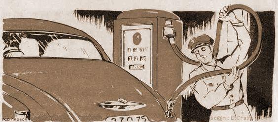 Pompiste ; Au XX° siècle, personne qui dans une station est chargée de servir l'essence aux automobilistes.