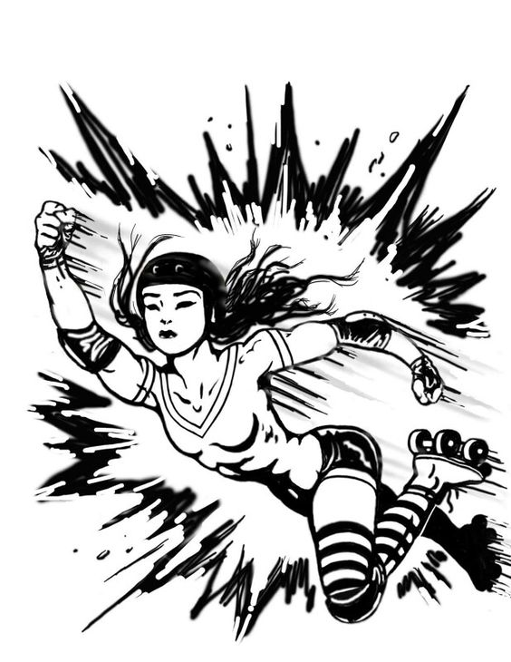 Women's Roller Derby art