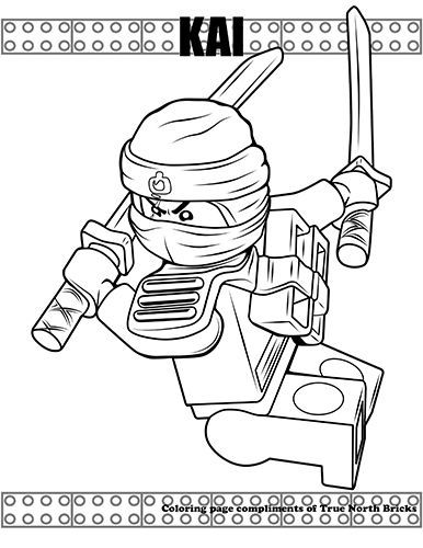Coloring Page Ninja Kai True North Bricks Ninjago Ausmalbilder Superhelden Malvorlagen Ausmalbilder Zum Ausdrucken