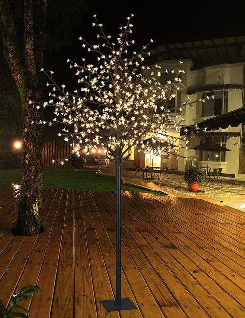 Lightshare Led Blossom Tree 6 5 Feet Warm White City Tree City Decor Outdoor Lighting