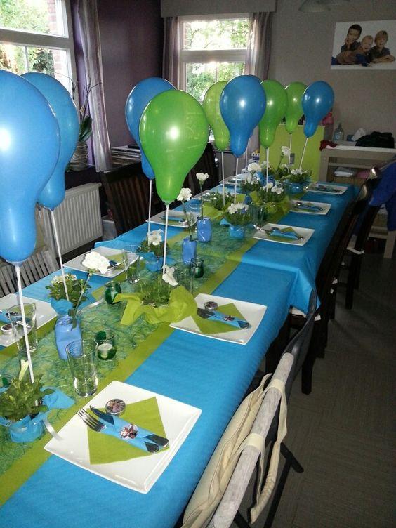 Tafel communie we hebben er zin in communie aaron for Ballonnen tafels