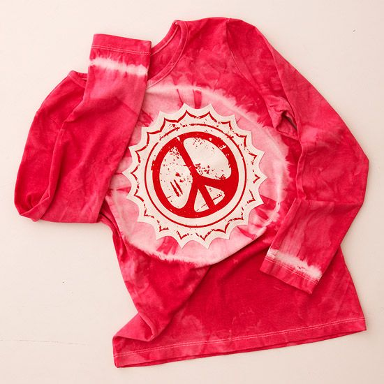 3 Tie-Dyed Peace T-Shirts