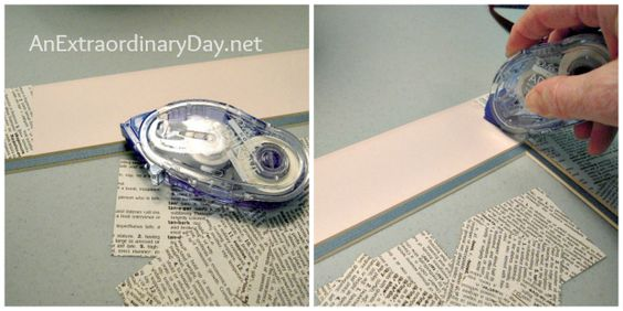 Easy DIY Book Page Mat Instructions for Refreshing a thrifted art :: AnExtraordinaryDay.net