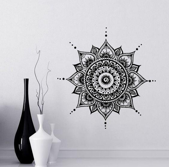 Mandala Wall Decal Yoga Studio Vinyl Sticker by LollipopDecals