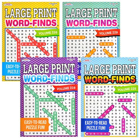 DollarTree.com Puzzle Books, Word Find, Words