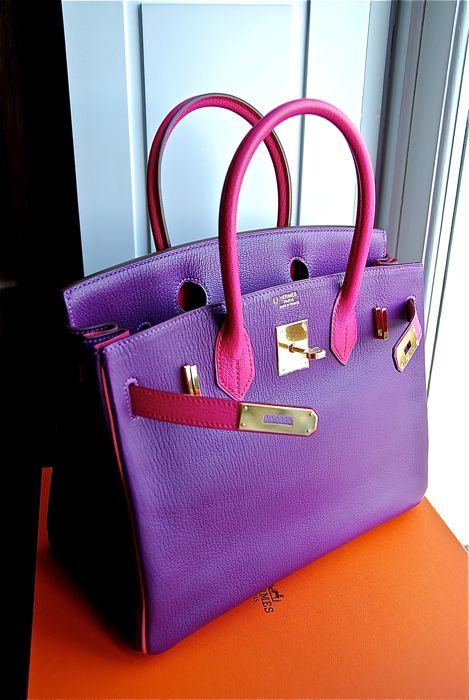 orange purses cheap - Hermes Birkin 30cm Chevre in Rose Shocking- Violet...   Thru the ...