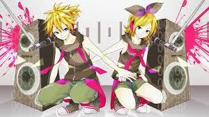 Resultado de imagen para anime vocaloid rin y len