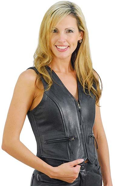 Expert Stretch Side Leather Vest for Women