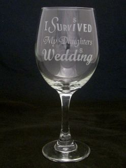 I Survived My Daughters Wedding Wine Glasses