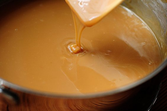 Honey carmel sauce-The Pioneer Woman  honey, butter, brown sugar and sweetened condensed milk