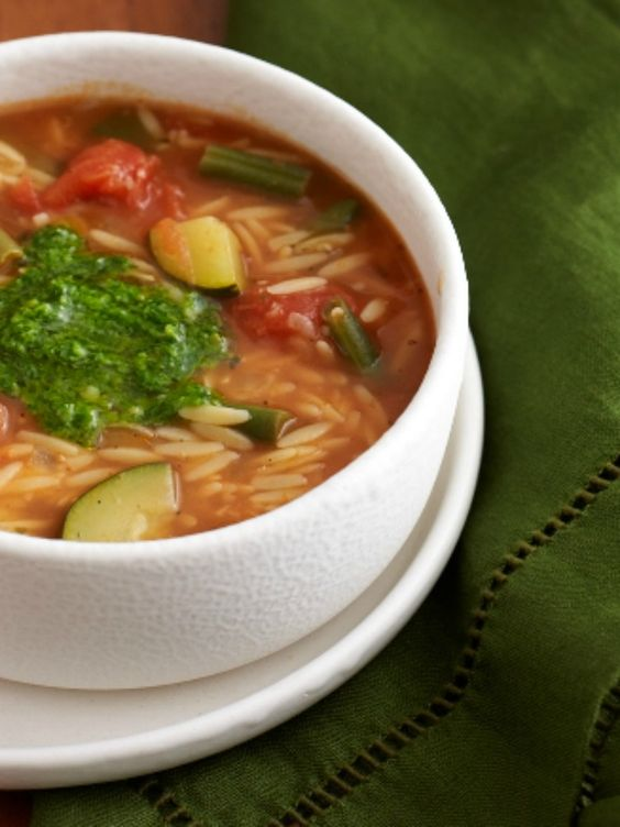 Italian Vegetable Soup with Cheese Bread - 1 pot meal