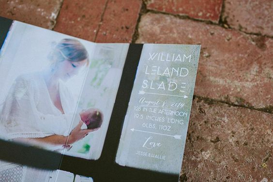 Modern birth announcements by Prim and Pixie   Wild Whim Photography   100 Layer Cakelet