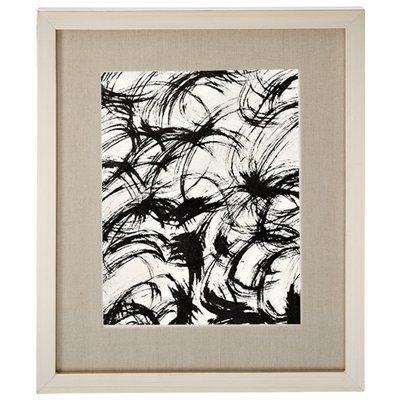 """Silver Leaf Frame with Linen Mat – 8"""" x 10"""""""
