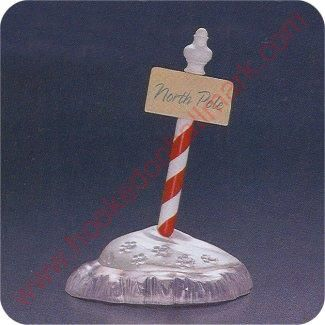 1994 North Pole Sign - Merry Miniature 8.95