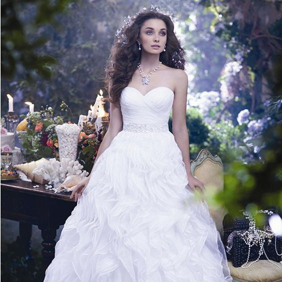 Disney fairies alfred angelo and fairy tales on pinterest for Fairy inspired wedding dresses