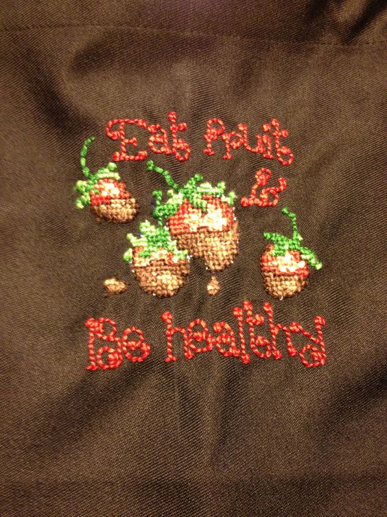 New cross stitched apron!